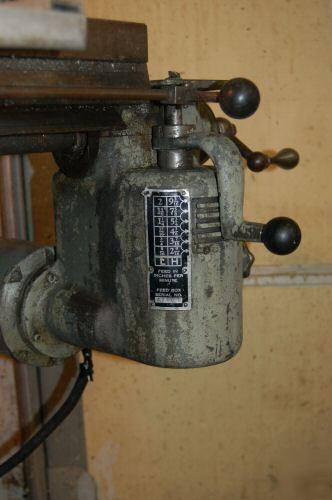 Bridgeport Milling Machine W Power Feed Central Nj