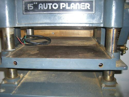 "Msc 15"" industrial wood thickness auto planer - nice"