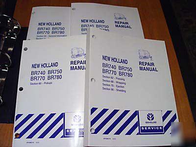 new holland br740 br750 br770 br780 service manual nh rh dfwind com NH BR780 Round Baler BR780 Baler Review