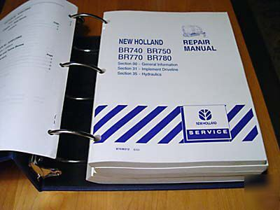 new holland br740 br750 br770 br780 service manual nh rh dfwind com BR780 Baler Review new holland br780 owners manual
