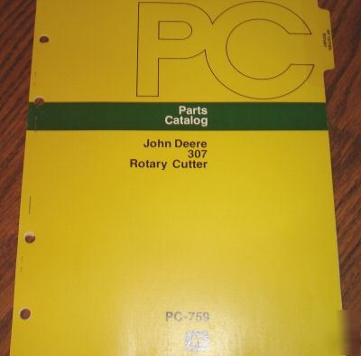 John deere 307 gyramor rotary cutter parts catalog jd