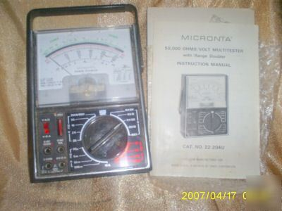 Micronta Multitester Instruction Manual