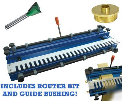 New 24 dovetail jig c w guide bushing router bit for How to use router template guide bushings