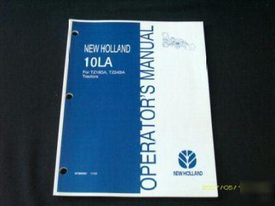 new holland 10la loader operators manual tz18da tz24da rh dfwind com TC45DA New Holland Backhoe New Holland Skid Steer Loaders