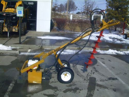 Self propelled post hole auger digger honda 9hp for Hydraulic auger motor for sale