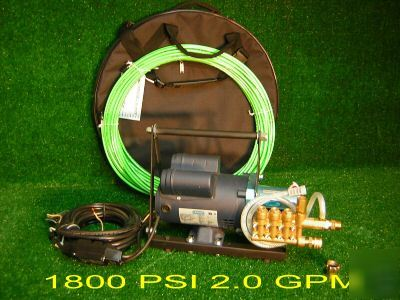 Sewer jetter-drain cleaner snake machine rooter hydro