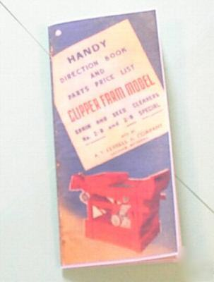Old clipper seed cleaner manual - no. 2B