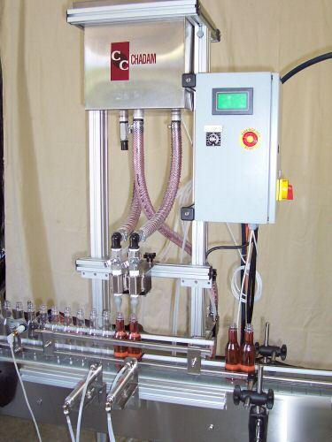 2 Head Gravity Liquid Filler Bottling Filling Machine