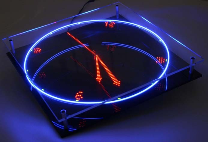 Nixie Tube Virtual Led Clock Neon Novelty Unique