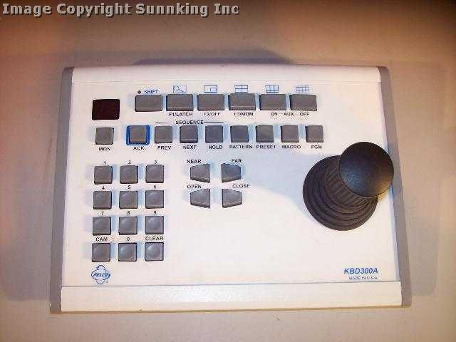 Pelco Full Function Ptz Control Keyboard Kbd A Pic on Ptz Keyboard Controller