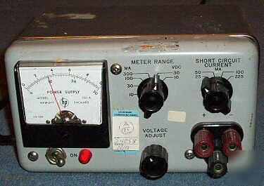 Hp 721a Electronic Variable Dc Lab Power Supply